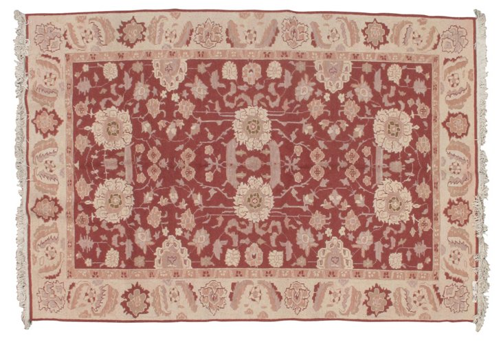 6' x 9' Neo Rug, Red/Wheat