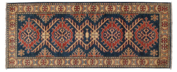 "2'4"" x 5'10"" Helena Runner, Blue/Tan/Red"