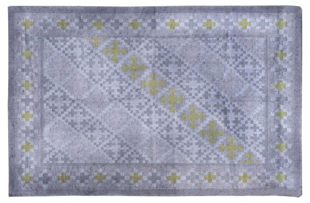 6'x9' Masha Flat-Weave Rug, Lavender