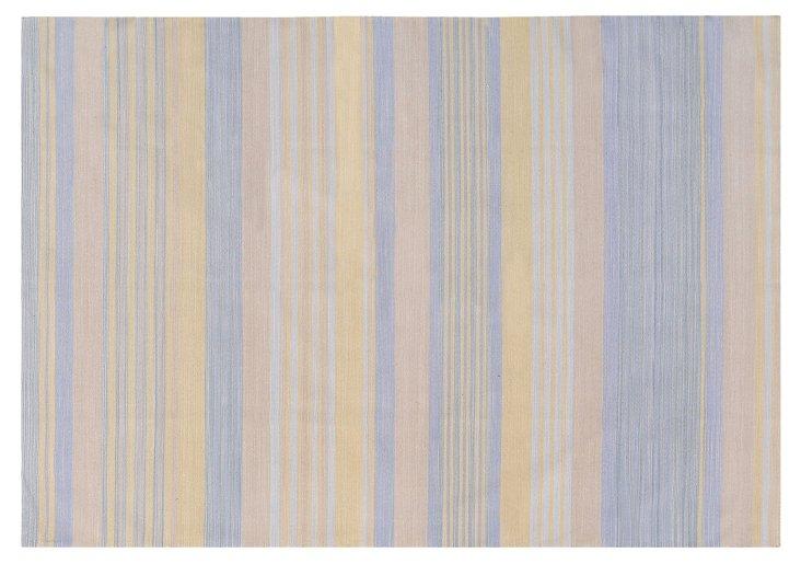 6'x9' Chaka Flat-Weave Rug, Periwinkle