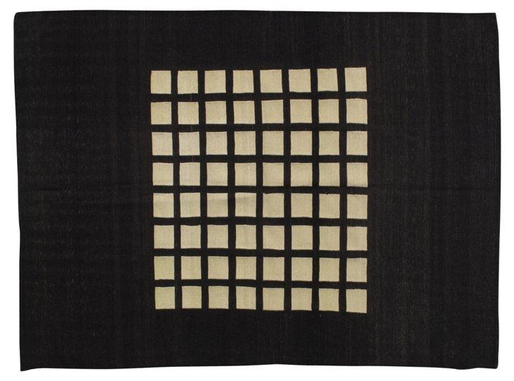 4'x6' Lidda Flat-Weave Rug, Chocolate