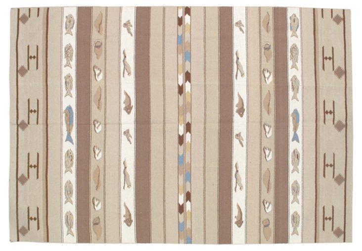 9'x13' Marcau Flat-Weave Rug, Mocha