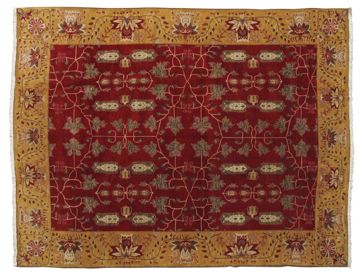 "9'x11'8"" Thomas Rug, Crimson/Gold/Multi"