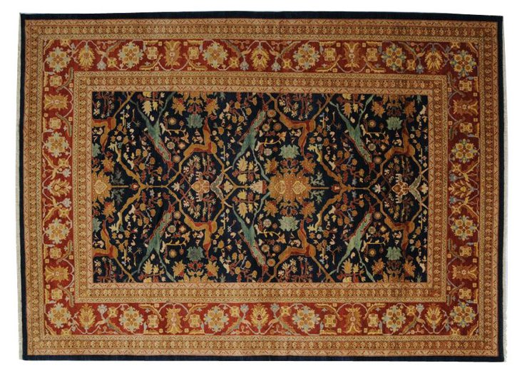 """9'1""""x12' Mclean Rug, Navy/Red/Gold"""