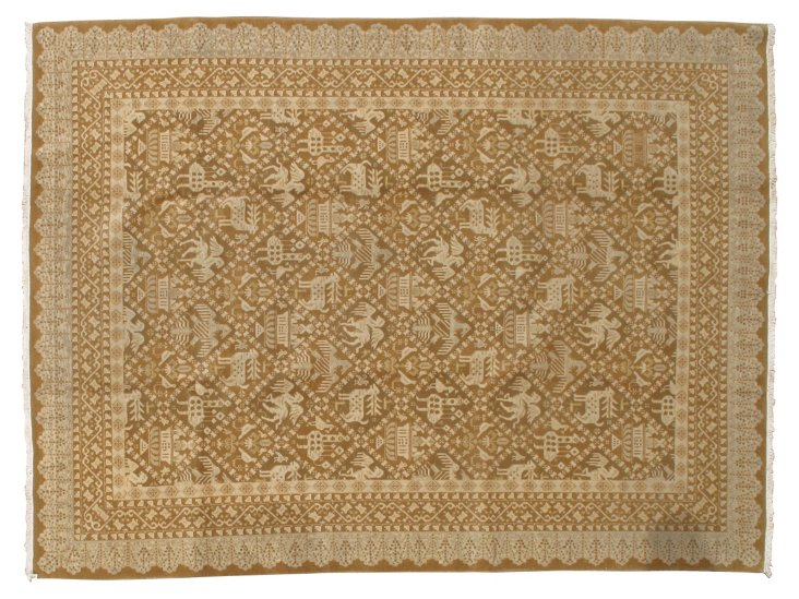 "7'4""x9'5"" Lowell Rug, Gold/Beige/Multi"