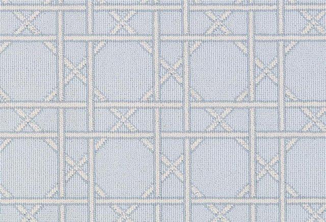 6'x9' Linean Rug, Sky Blue