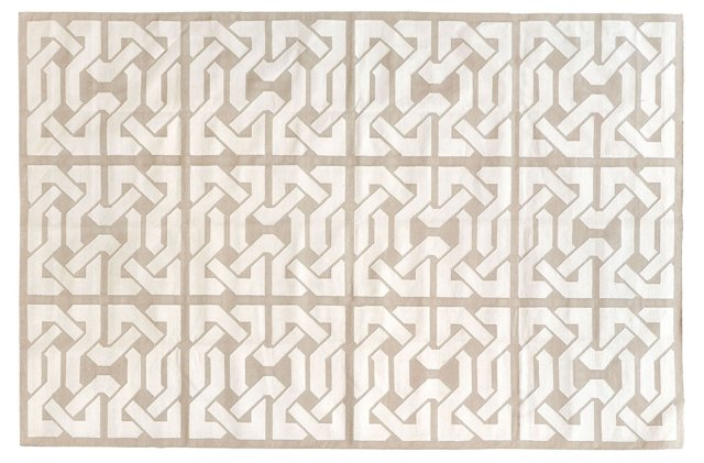 Byrum Flat-Weave Rug, Taupe/White
