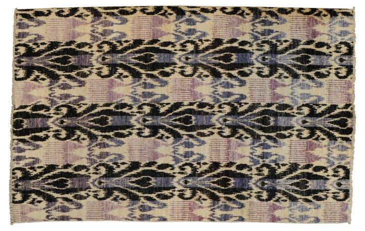 5'x9' Sutton Rug, Purple/Ivory