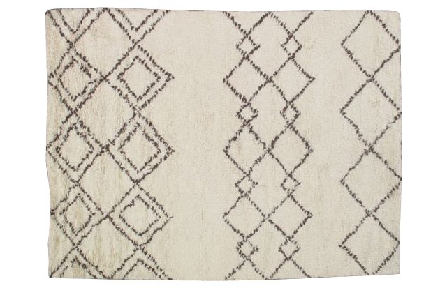 Gale Rug, Off White/Brown