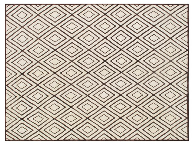 3'x5' Primo Rug, Cream/Brown