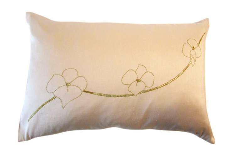 Orchid 12x18 Pillow, Gold