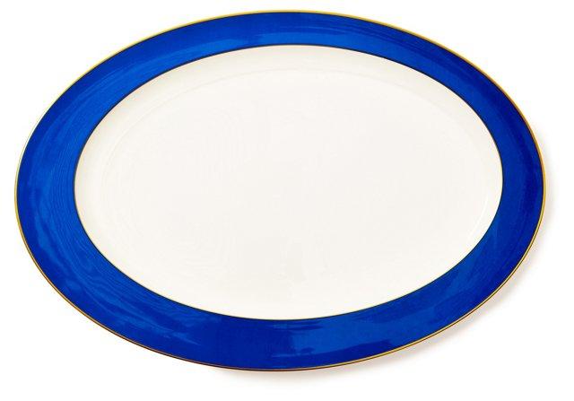 Interlude Lapis Oval Platter