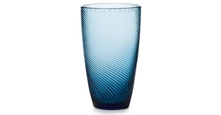 S/4 DVF Highball Glasses, Cobalt Blue