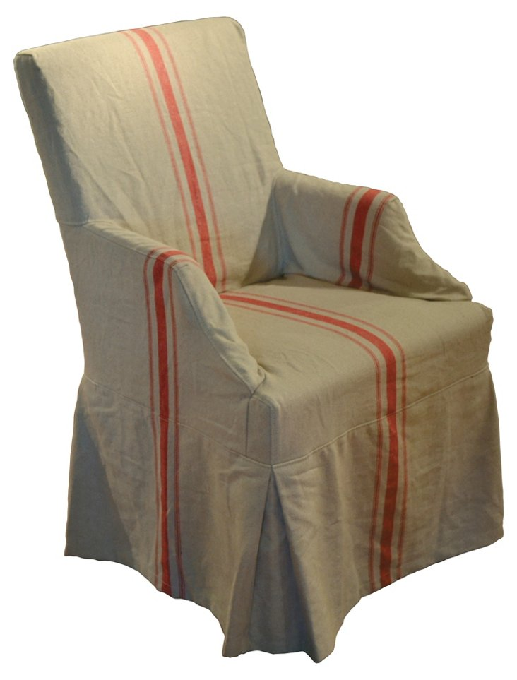 Linea Armchair, Red