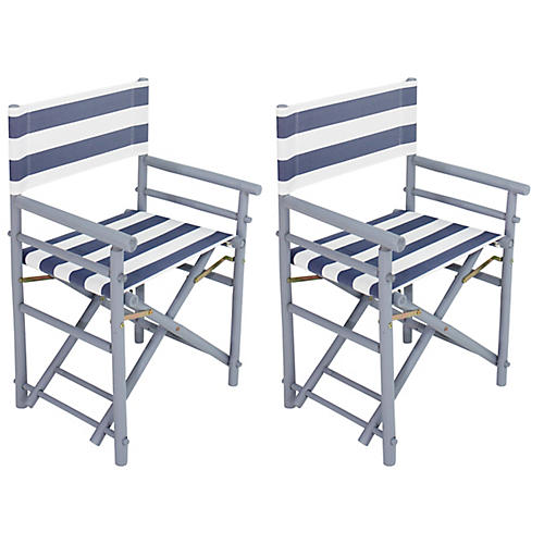 S/2 Director Chairs, Light Gray