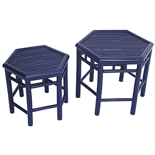 Asst. of 2 Onesta Nesting Tables, Navy