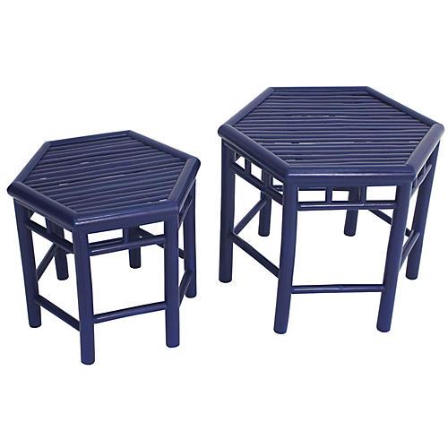 Asst. of 2 Onesta Nesting Tables, Navy
