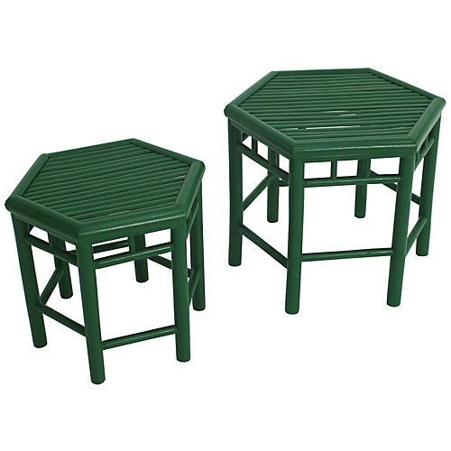 Asst. of 2 Onesta Nesting Tables, Green