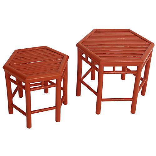 Asst. of 2 Onesta Nesting Tables, Orange
