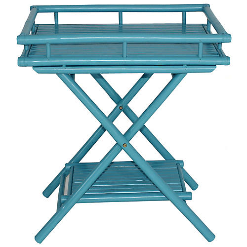 Trayta Side Table, Turquoise