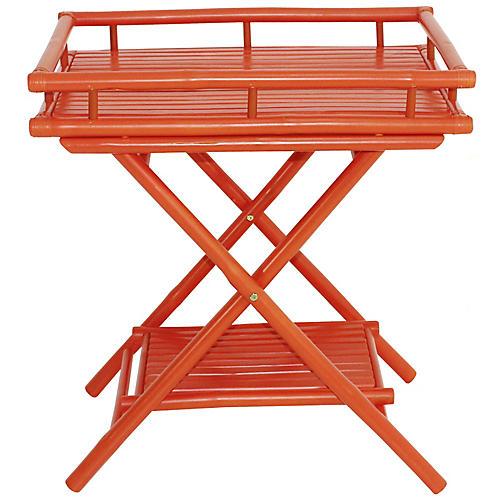 Trayta Side Table, Orange