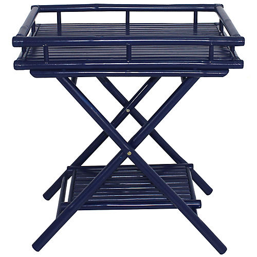 Trayta Side Table, Navy