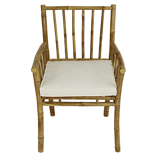 Bamba Armchair, Natural/White