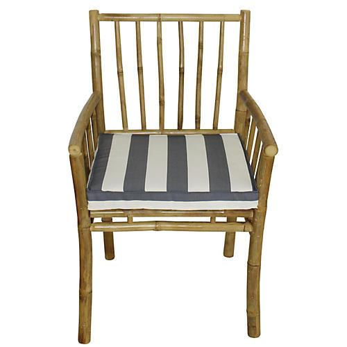 Bamba Armchair, Natural/Blue