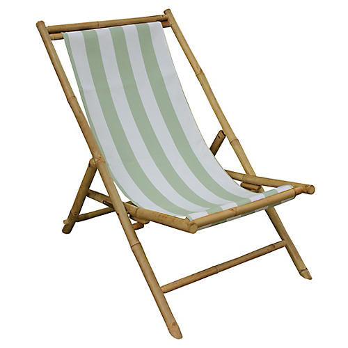 Beachboo Lounge Chair, Celadon/White