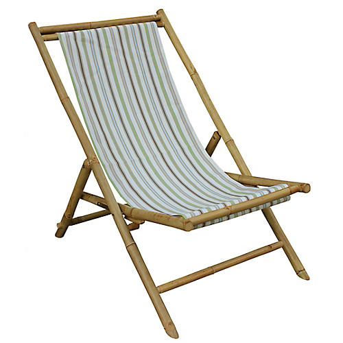 Beachboo Lounge Chair, Green/Multi