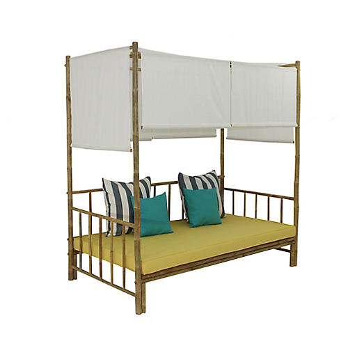 Bamboo Daybed, Yellow