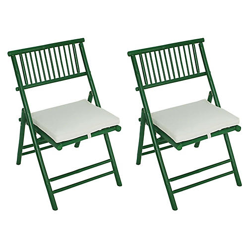 S/2 Champion Side Chairs, Green