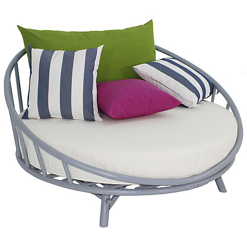 Rattana Daybed, Light Gray