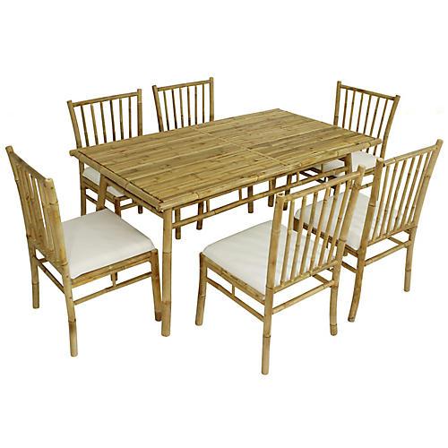 Social 7-Pc Dining Set, Natural