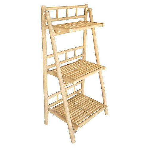 Bamboo 3-Tray Shelf, Natural