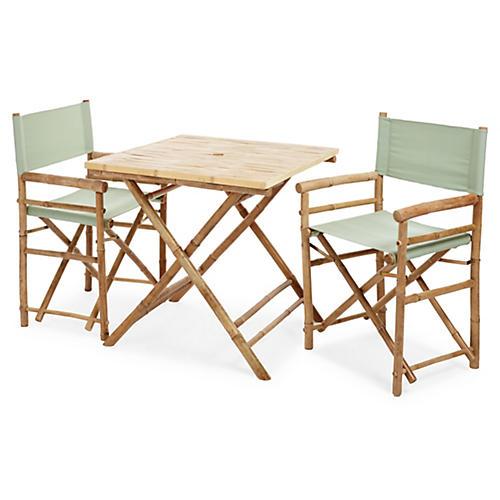 Square 3-Pc Dining Set, Celadon