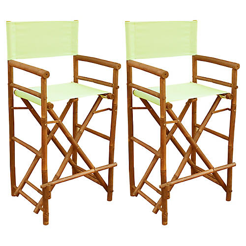 S/2 Director's Chairs, Celadon