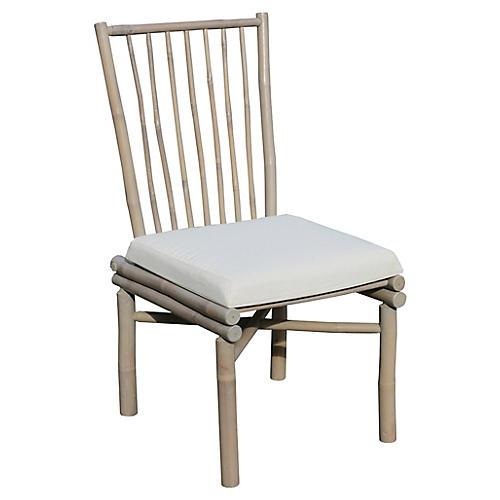 Bamboo Side Chair, Whitewash