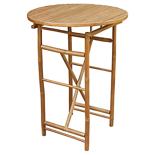 Bamboo High Bistro Table, Sand