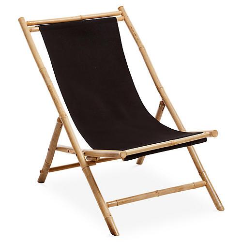 Bamboo Lounge Chair, Black