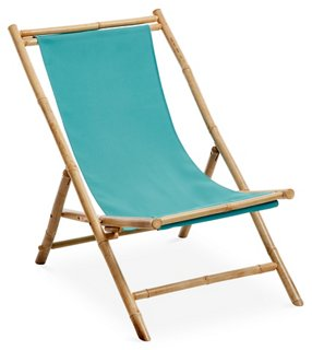 Etonnant Bamboo Lounge Chair, Aqua   Alfresco Dining   Outdoor Essentials   Outdoor  | One Kings Lane