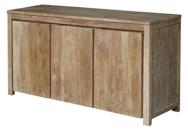 """Plateau 70"""" 3-Door Buffet, Driftwood"""