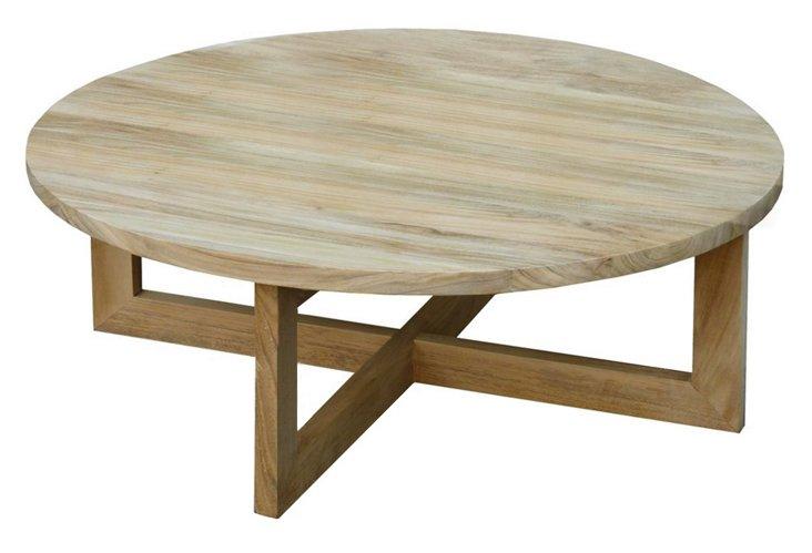 Plateau Round Coffee Table, Teak