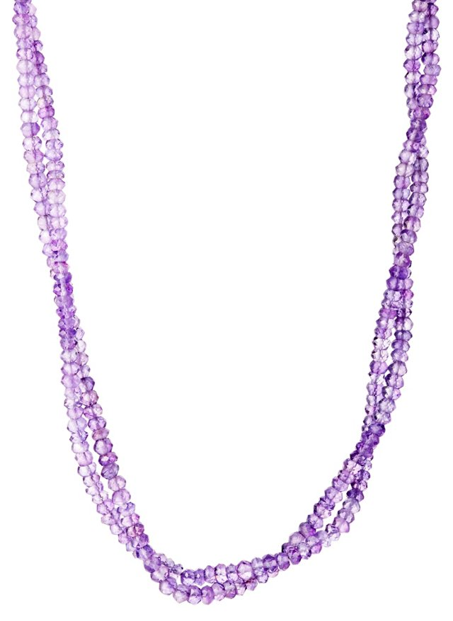 Pink Amethyst Double Strand Necklace