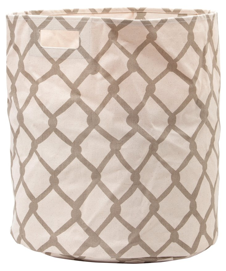 Chain-Link Hamper, Taupe