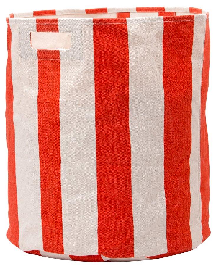 Stripe Hamper, Orange