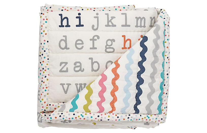 Hi Blanket, White/Multi