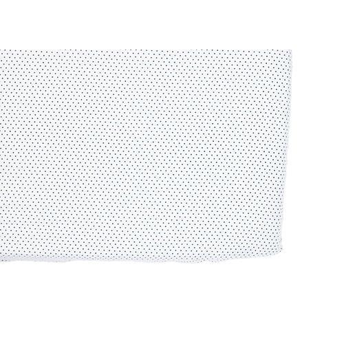 Pin Dot Baby Crib Sheet, Navy