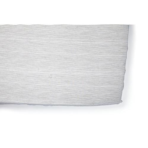 Pencil Stripe Baby Crib Sheet, Gray