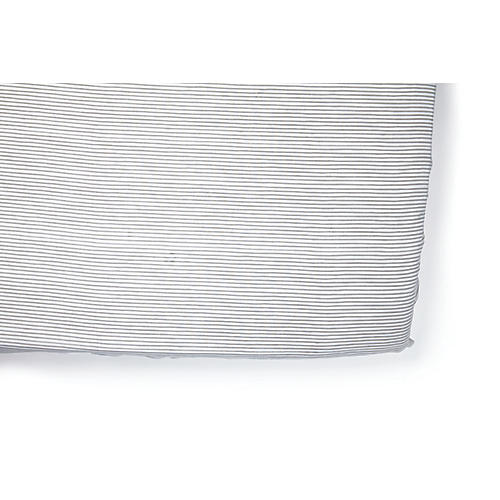 Pencil Stripe Baby Crib Sheet, Gray